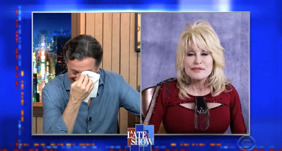 Dolly Parton Turned Stephen Colbert into a Weeping Mess
