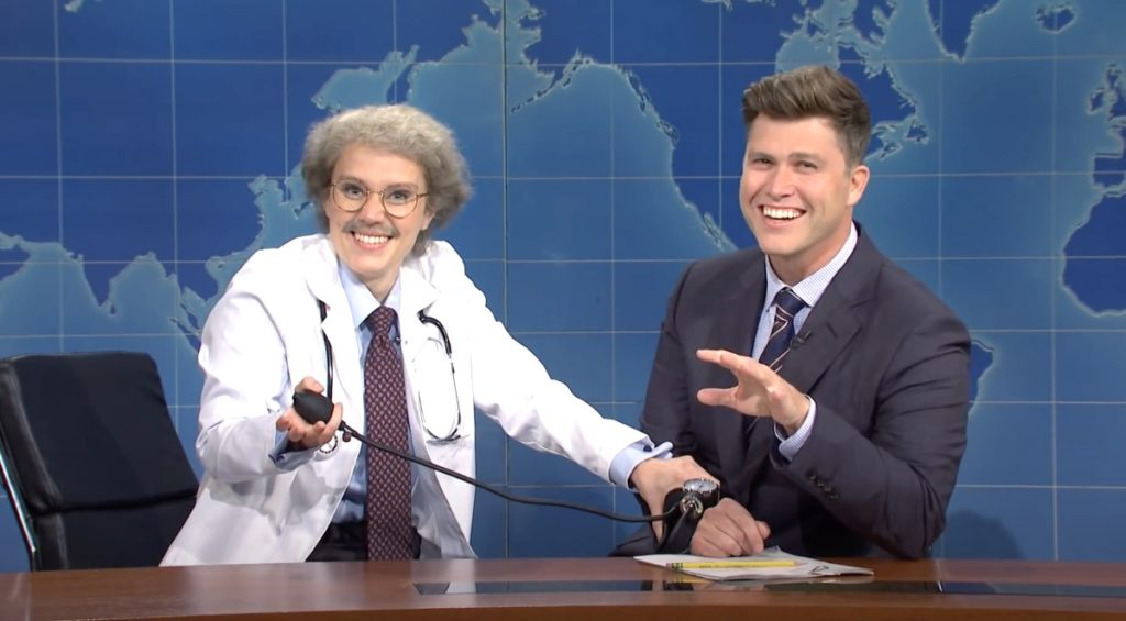 Kate McKinnon breaks character, addresses viewers during 'SNL'