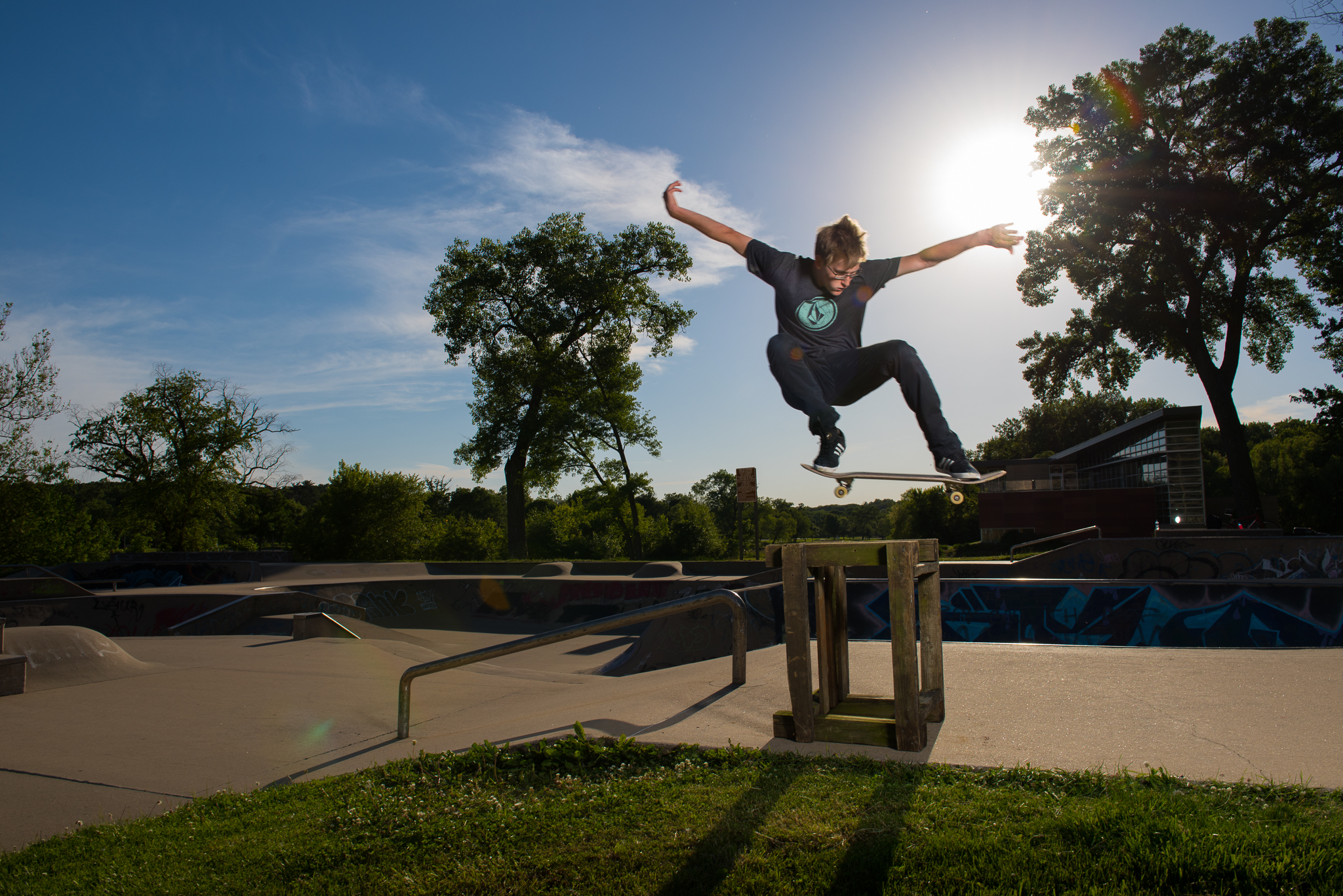 Senior Pictures Iowa City Skate Park Ivy Towler-14