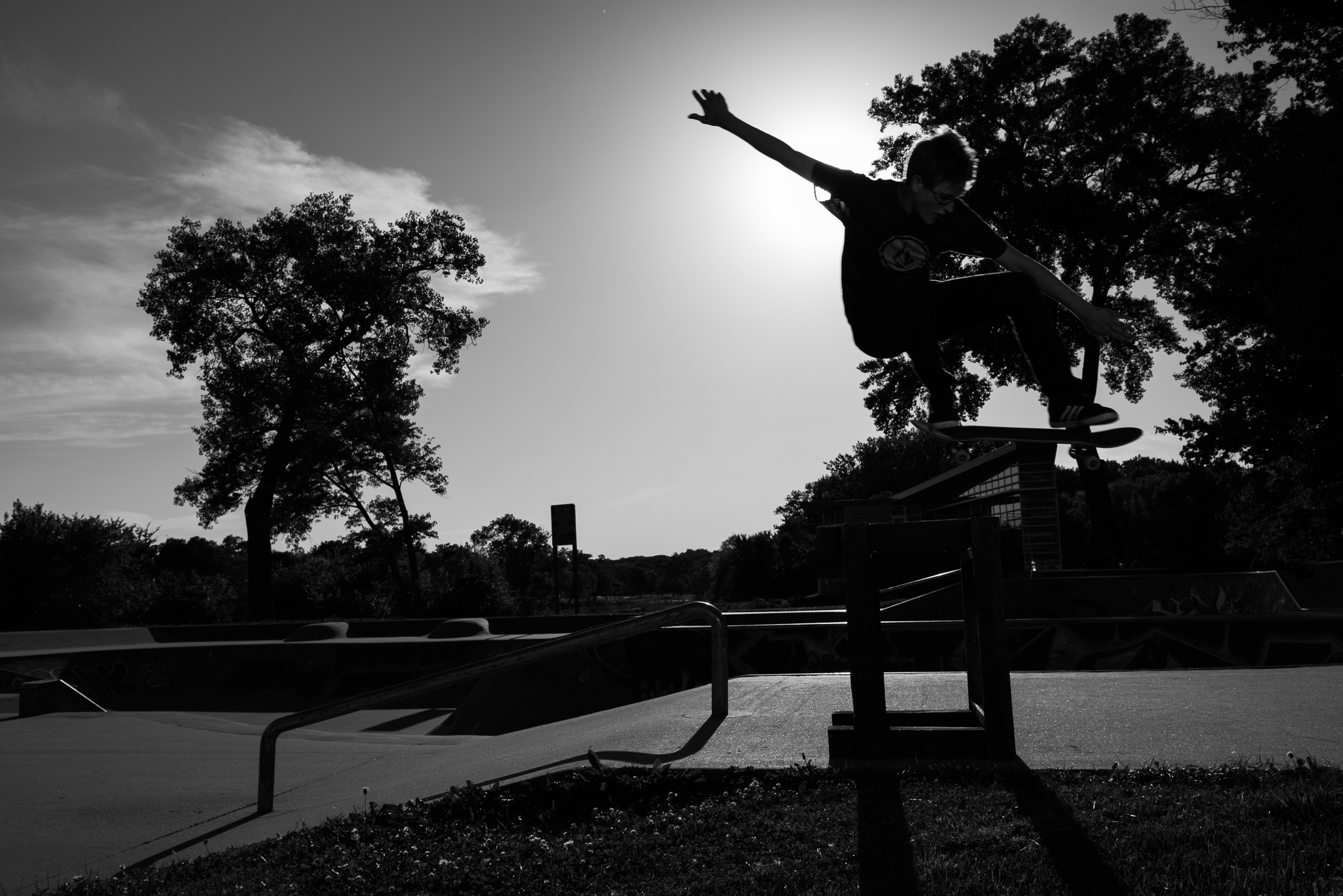 Senior Pictures Iowa City Skate Park Ivy Towler-9