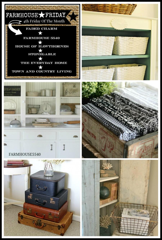 Farmhouse Style Storage Ideas Farmhouse Friday Town