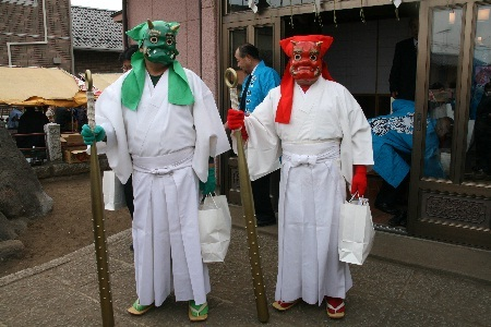 kijin shrine setsubun mamemaki oni