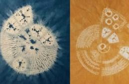 3 amazing ammonites to create in stitch resist shibori