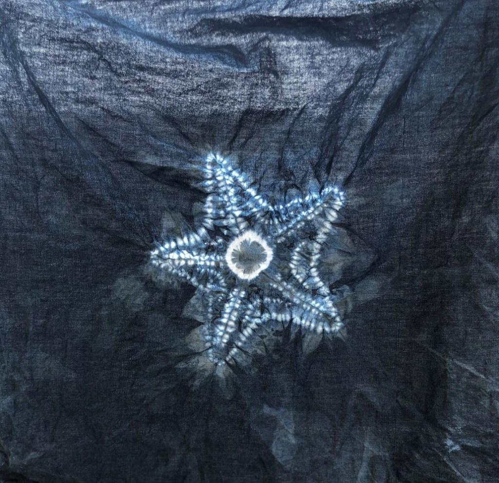 shibori starfish design