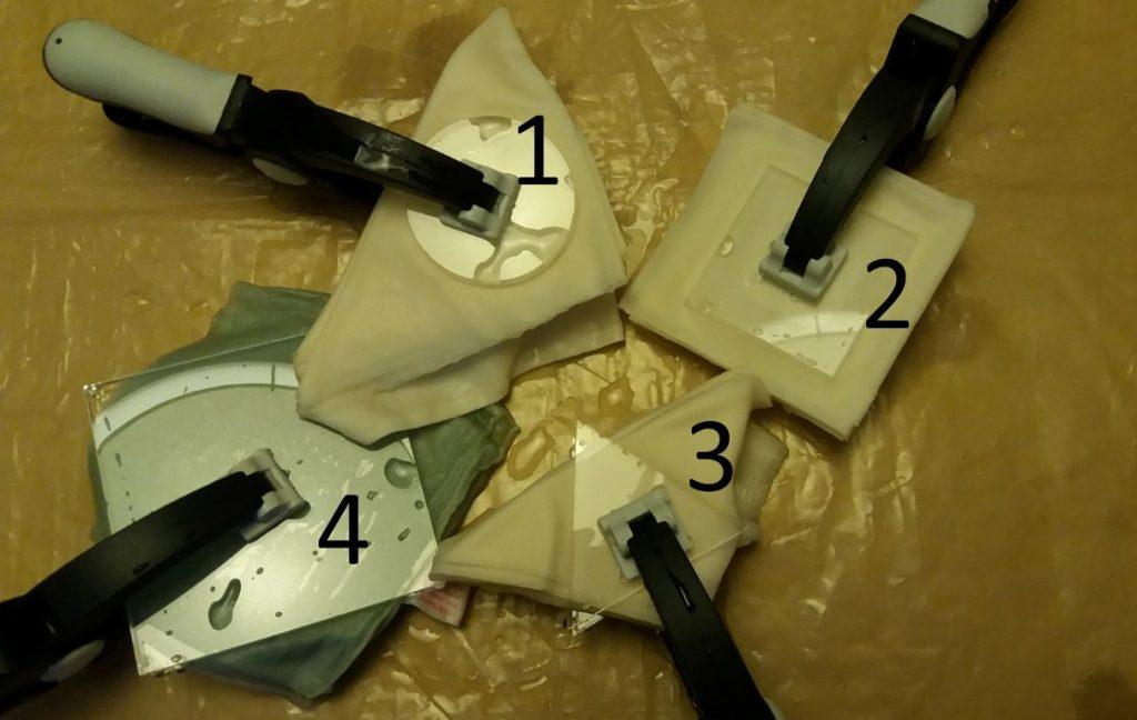 4 clamped itajime fabrics