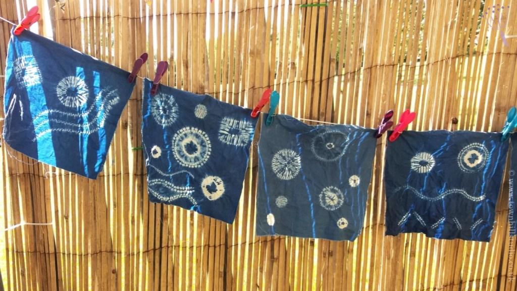 4 shibori samplers