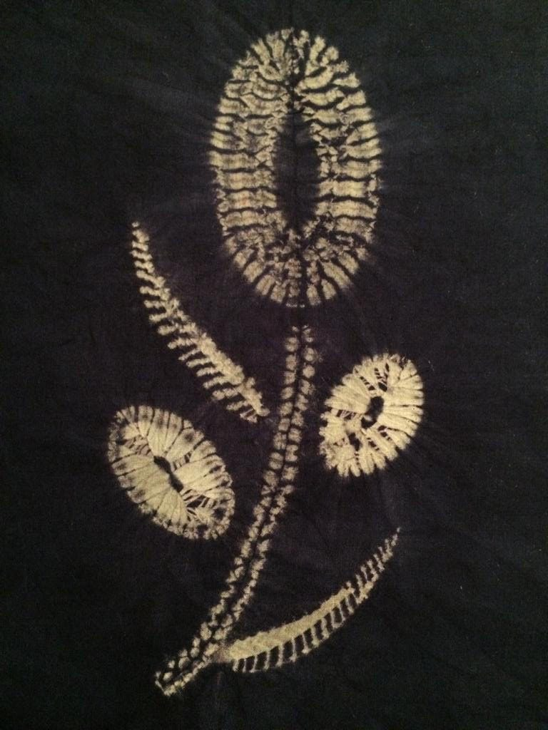 a shibori flower design