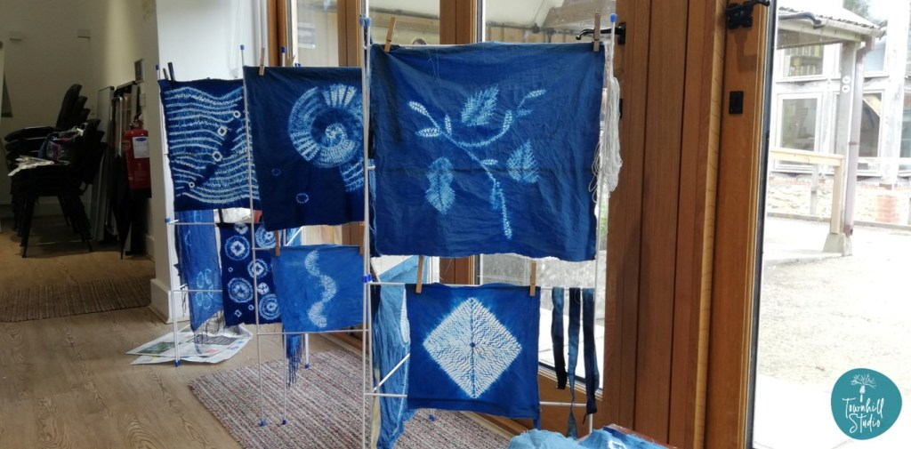 A collection of shibori pieces