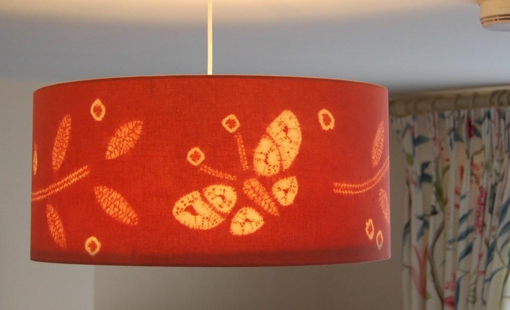 Pink drum lampshade