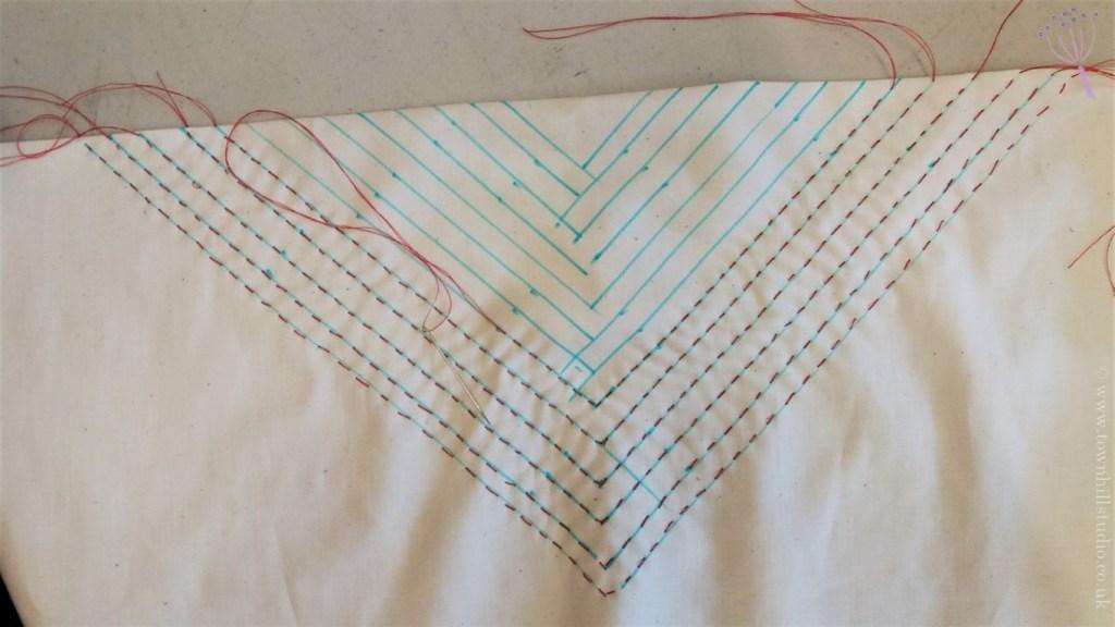 Gabys diamond shibori pattern stitching