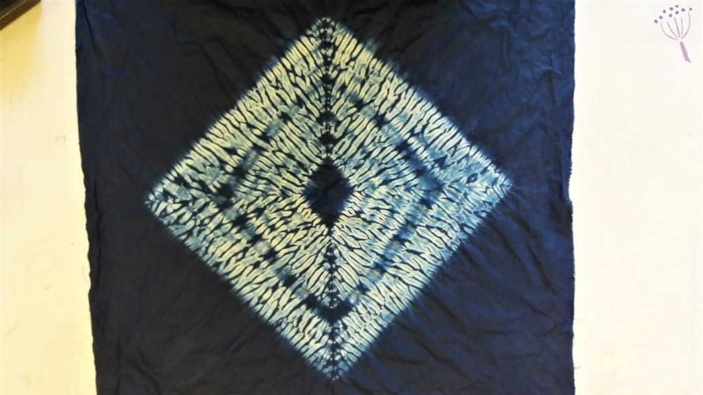 Marys diamond shibori pattern