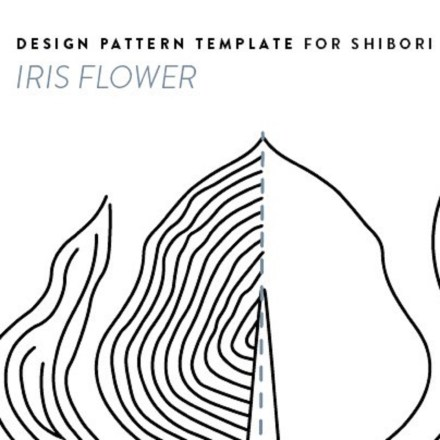 detail of page from iris flower pattern 2