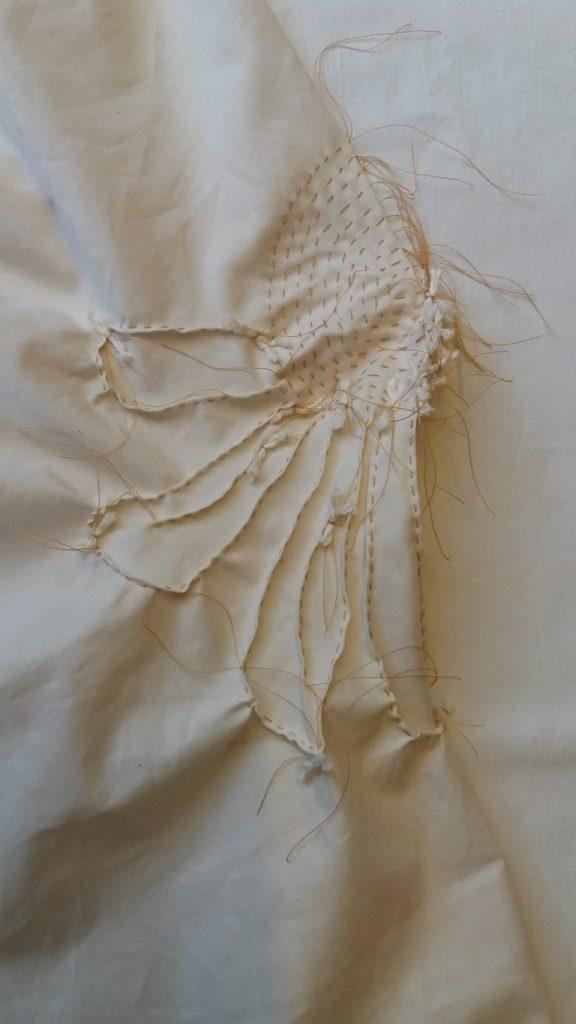 shibori echinacea stitching