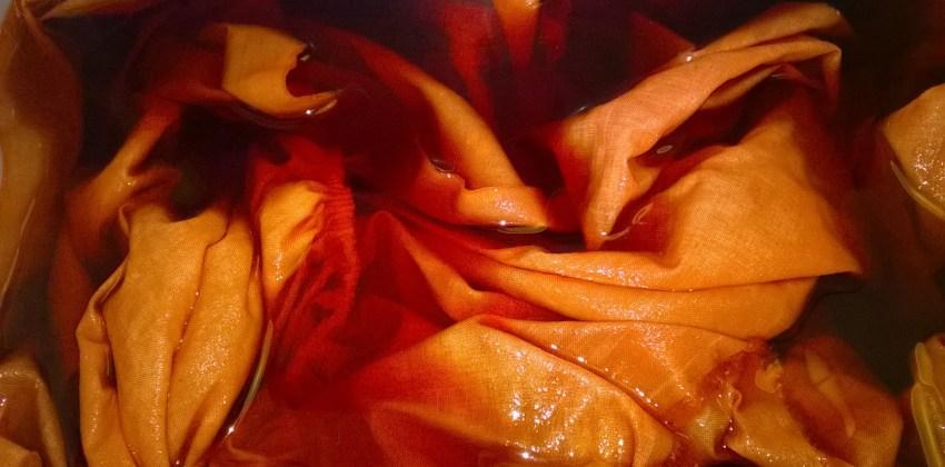 Fabric in dyebath