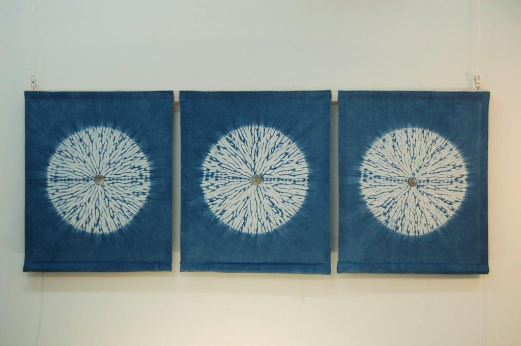 indigo circles miru shibori