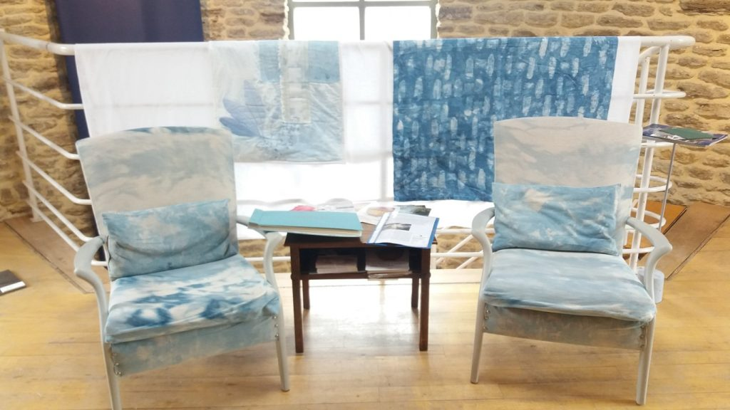 indigo textiles at Back to Blue exhibition