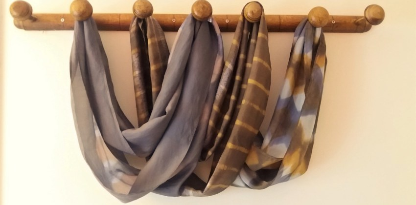 The latest on enhancing silk scarves with shibori and plant dyes