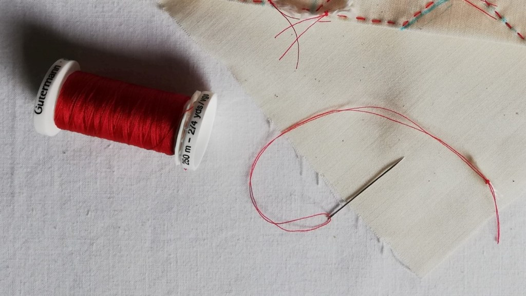 needle and thread for shibori sewing