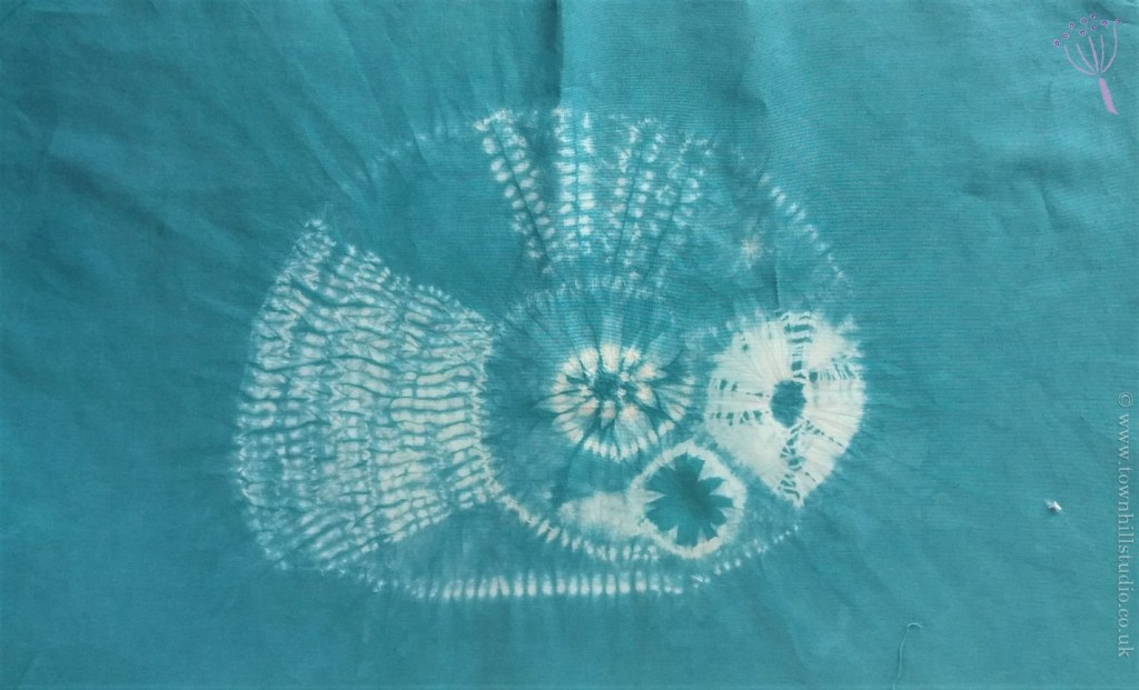 shibori ammonite teal