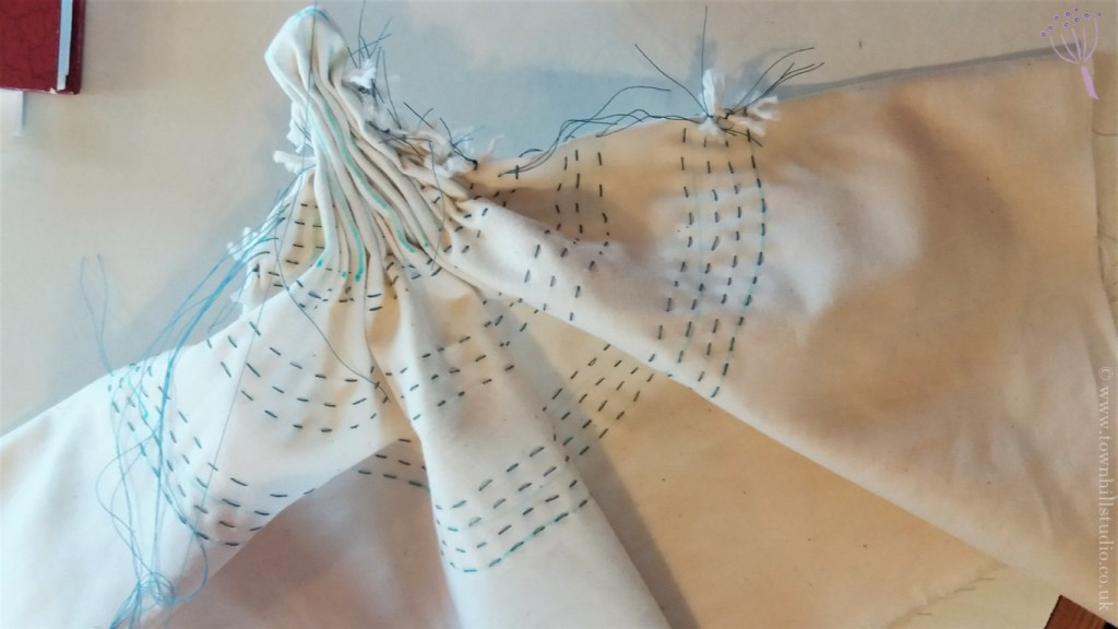 shibori circle stitching outer