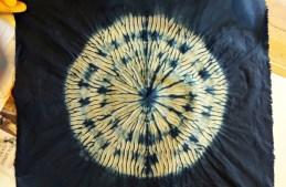 shibori circle varied spacing