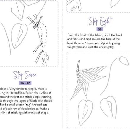 page 3 of clematis shibori pattern