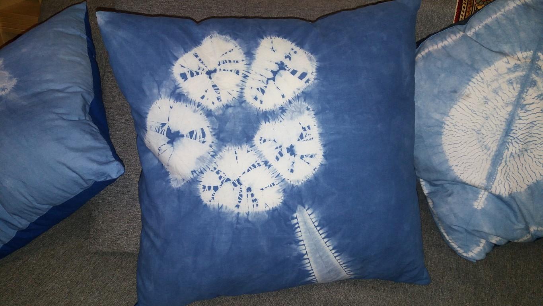 shibori cushion Hagar