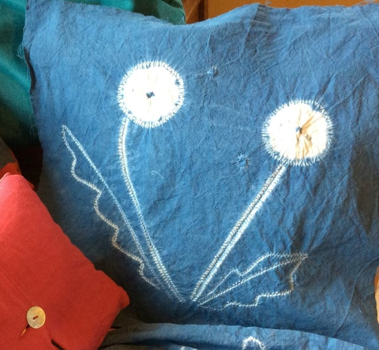 shibori cushion Patsy