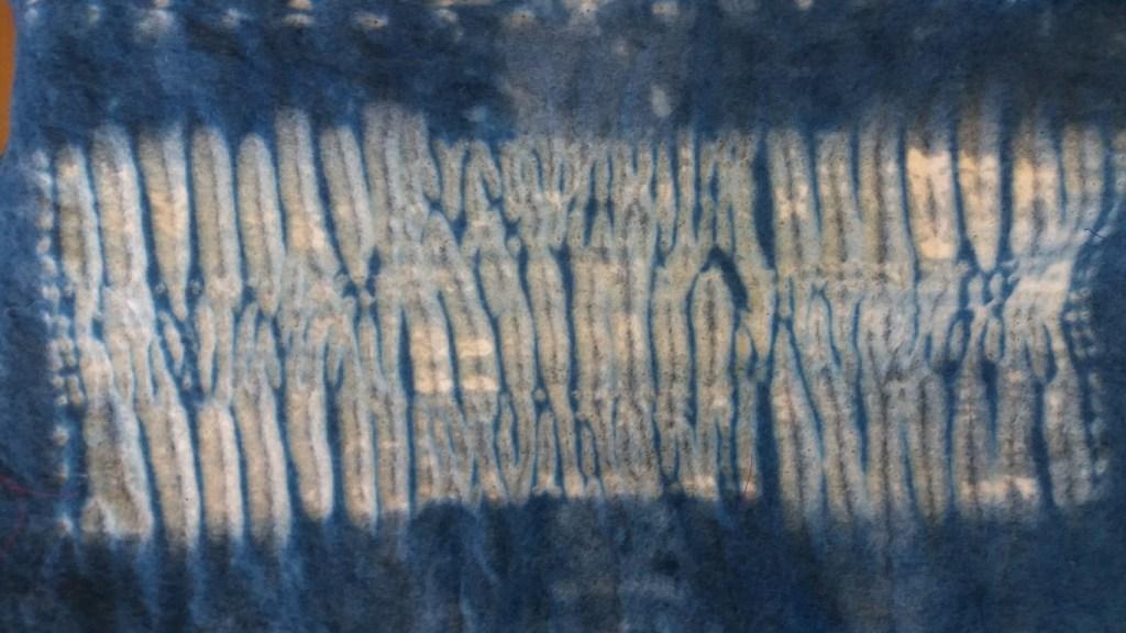 mokume shibori on nuno felt