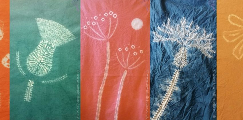 5 creative ideas for fab flowers in shibori stitch resist