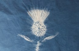 Straightforward steps to making a shibori stitch resist thistle