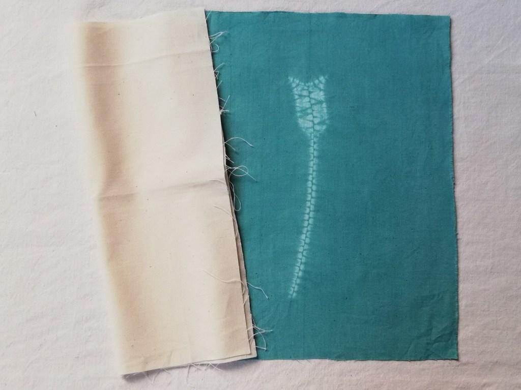 shibori stitching on close woven fabric