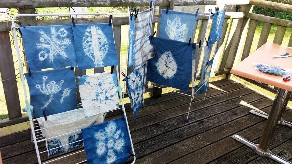 shibori workshop collection of fabrics