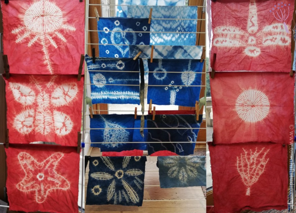 workshop shibori stitch resist designs