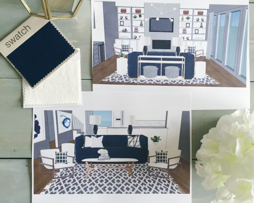 Get This Look: #projectcolorfulcontemporary || Town Lifestyle + Design || Get the look of this e-design client who was looking for a mix of textures and patterns, strong contrast, and interesting elements that make a statement.