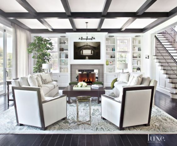 Get This Look: #projecttransitionallux || Town Lifestyle + Design || Get the look of this Transitional E-Design Living Room