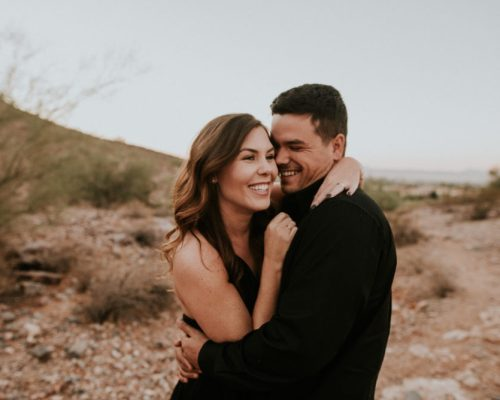 We're Getting Married! || Town Lifestyle and Design || Desert Engagement Shoot
