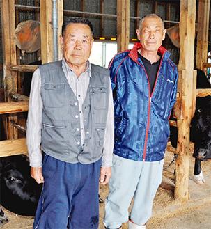 真壁秀男さん(左)と弟の稔さん