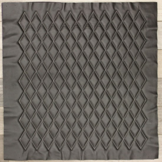 Townsend LEather Diamond Quilt Dark Color Full Panel