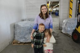 Kayla, son and daughter