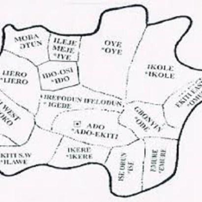 Map of Ekiti