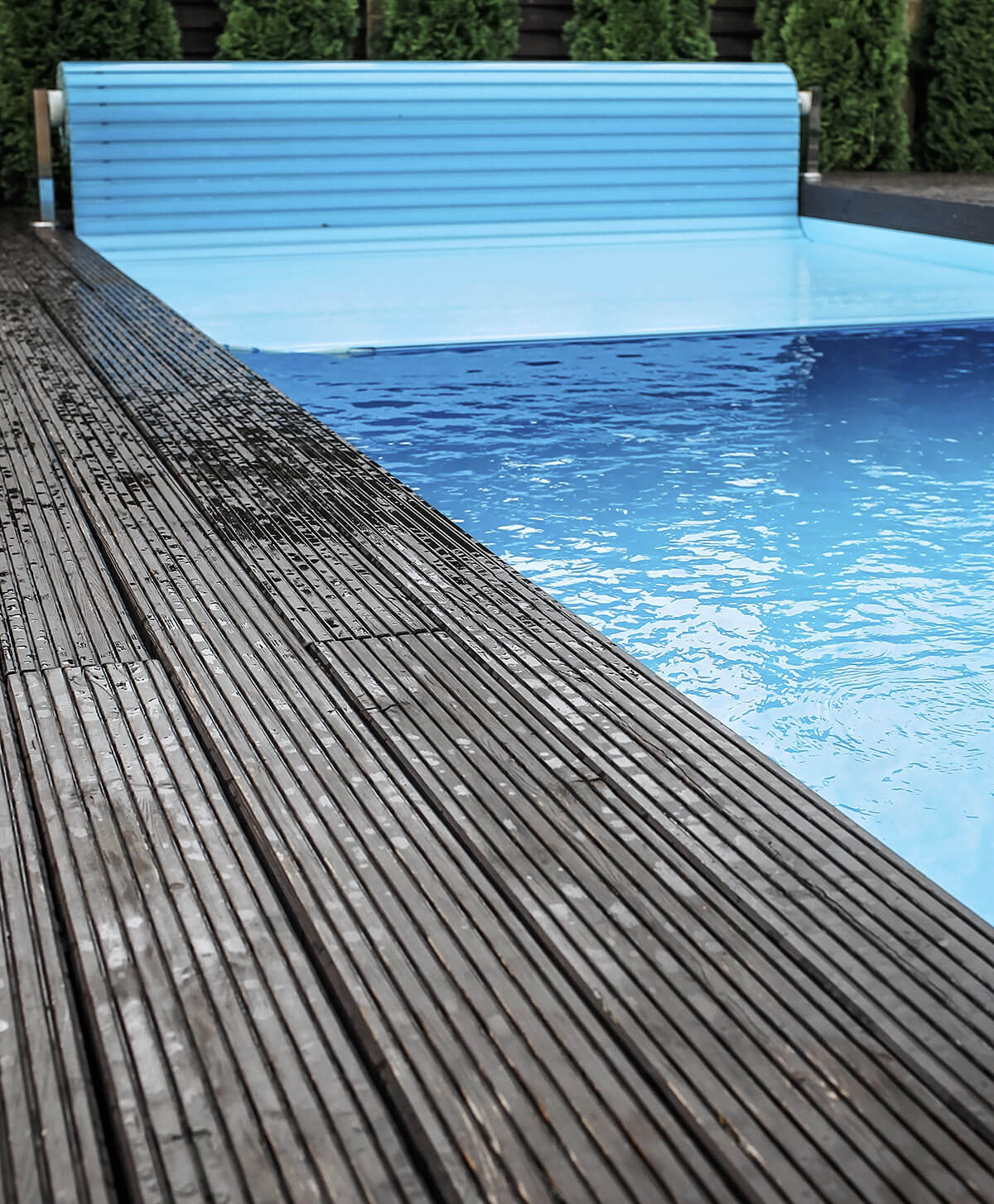 composite decking pool