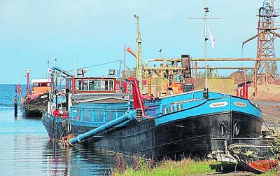 Lough Neagh sand barges. PHOTO: ALBERT BRIDGE