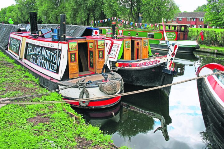 President and Kildare at one of the waterways events they attended during the year.