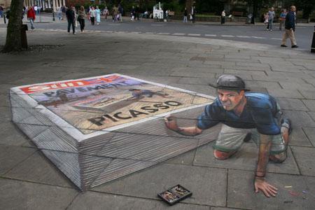 3D Sidewalk Chalk Art 7