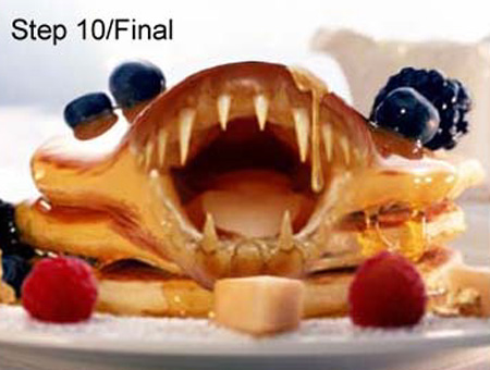 Scary Pancakes Photoshop Tutorial