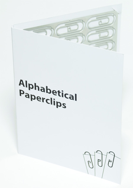 Alphabetical Paperclips by Stephen Reed