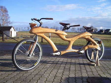 Unique Wooden Bicycle
