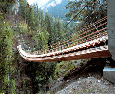 Suspended Staircase Bridge