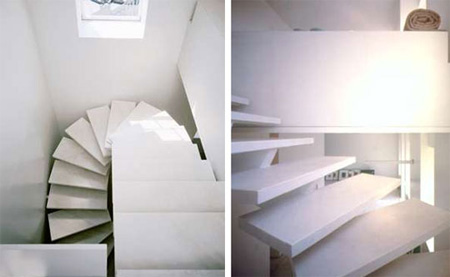 Curvy Modern Marble Stairs 2